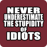 never underestimate the power of idiots